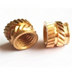 M2 M3 M4 Knurled brass insert embedded nut for plastics injection